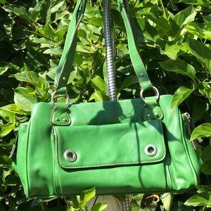 Vintage Green Barney's New York Bag